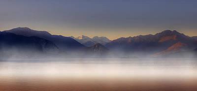 Lake Maggiore And Alps Print by Joana Kruse