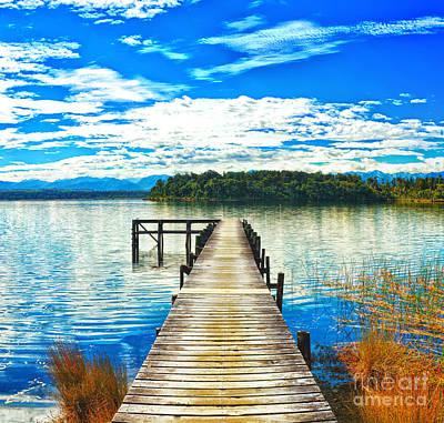 Jetty View Park Photograph - Lake Mahinapua by MotHaiBaPhoto Prints