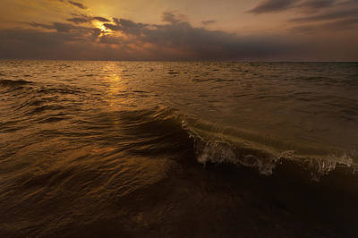 Lake Michigan Sunset Original by Steve Gadomski