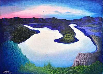 Nature Painting - Lake Of Heaven by Jagdish Karial
