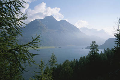 Lake Segl In The Engadin Valley Print by Taylor S. Kennedy
