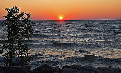 Sunsets Photograph - Lake Sunset by Aimee L Maher Photography and Art Visit ALMGallerydotcom