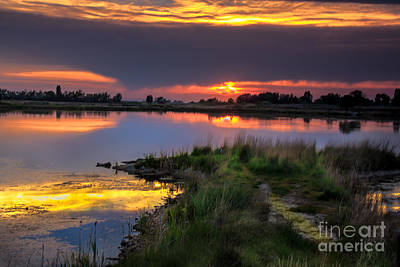 Lake Sunset Print by Robert Bales