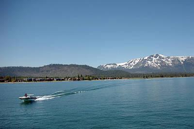 Pine Photograph - Lake Tahoe Powerboat Pleasure by LeeAnn McLaneGoetz McLaneGoetzStudioLLCcom