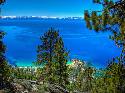 Sand Harbor Photograph - Lake Tahoe Sand Harbor State Park From Flume Trail by Scott McGuire