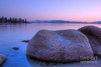 Sand Harbor Photograph - Lake Tahoe Sunset by Scott McGuire