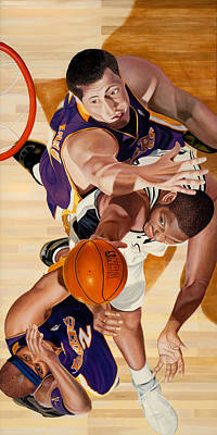 Lakers Painting - Lakers by Douglas Fincham