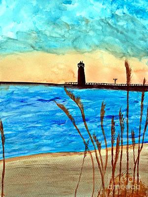 Lakefront Painting - Lakeside Luxury by Ayasha Loya Aka Pari  Dominic