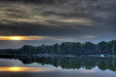 Sunset Photograph - Lakeside Sunset by Barry Jones