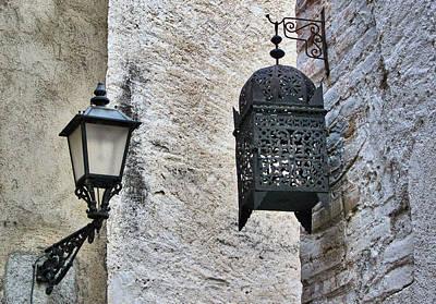 Lamp On Wall Print by Jordi Sardà López