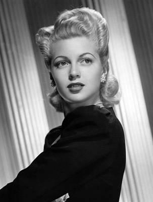 Earrings Photograph - Lana Turner, Ca. 1940s by Everett