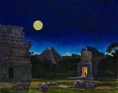 Land Of The Maya Print by Michael Frank