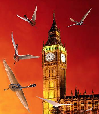 Landing In London Rocks Print by Eric Kempson