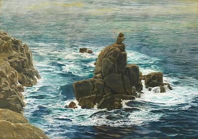 Deep Blue Painting - Land's End by John Brett