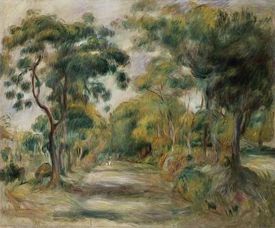 Landscape At Noon Print by  Pierre Auguste Renoir
