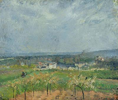 Landscape In Pontoise Print by Camille Pissarro