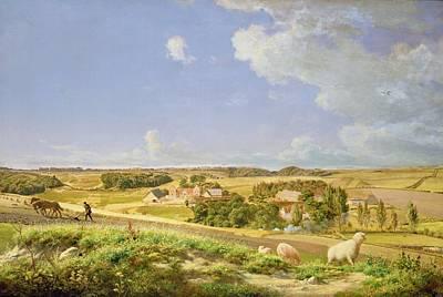 Farm Team Painting - Landscape  by Johann Moller