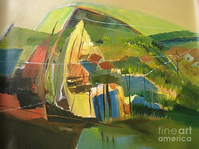 Arial View Painting - Landscape  by Konda Srinivas Rao