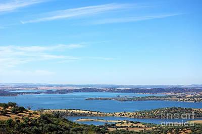 Alqueva Photograph - Landscape Of Alqueva Lake Near Monsaraz Village. by Inacio Pires