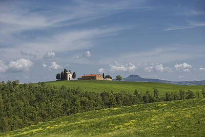 Landscape With Vitaleta Chapel (church) Print by Maremagnum