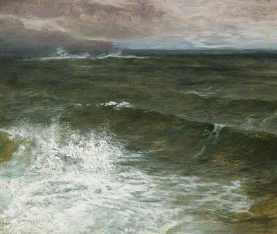 Spray Painting - Lannacombe Bay by GV Cole