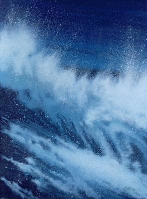 Spray Painting - Large Waves Breaking by Alan Byrne
