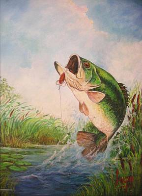 Largemouth Bass Original by Jose Lugo