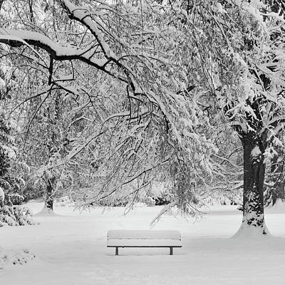 Benches Photograph - Last Break by Philippe Sainte-Laudy Photography