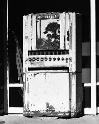 Relic Glass Photograph - Last Cigarette Bw Palm Springs by William Dey