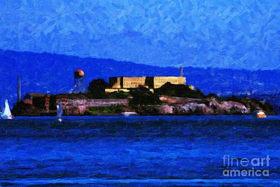 Last Light Over Alcatraz Print by Wingsdomain Art and Photography