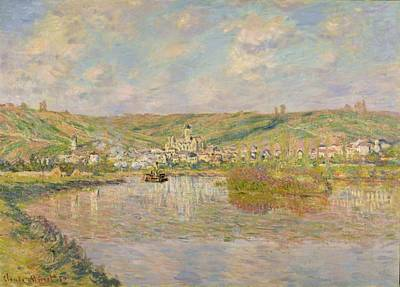 River View Painting - Late Afternoon - Vetheuil by Claude Monet