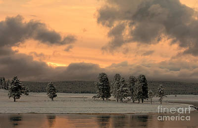 Late Spring Storm In Yellowstone Print by Sandra Bronstein