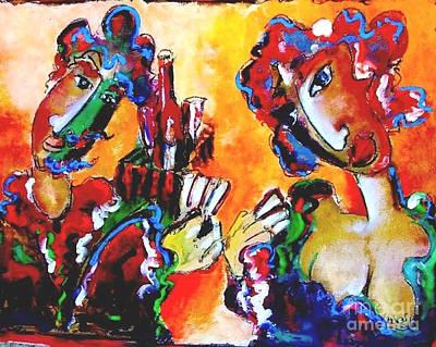Must Art Painting - Laubar - Pokerface by Laurens  Barnard