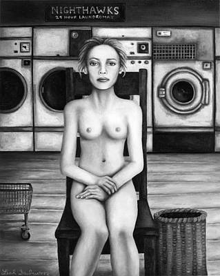 Laundry Day 5 In Bw Print by Leah Saulnier The Painting Maniac