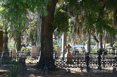 Laurel Grove Cemetery - Savannah Georgia Print by Randy Edwards