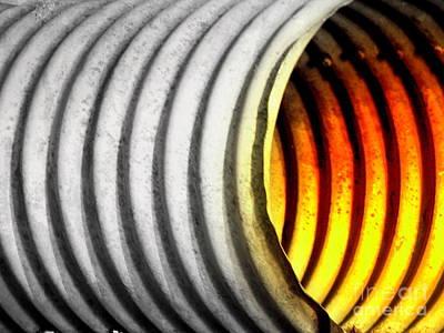 Op Art Photograph - Lava Tube by Joe Jake Pratt