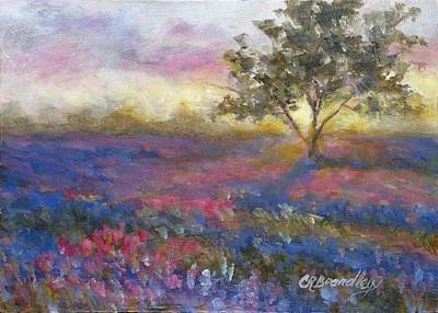 Creative Wall Designs Painting - Lavender At Sunset by Chris Brandley