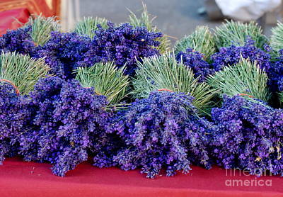 Lavender Bunches Print by Andrea Simon
