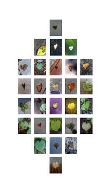 Digital Art - Leaf Hearts by Boy Sees Hearts