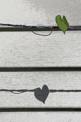 Grow Digital Art - Leaf Shadow by Holly Ethan