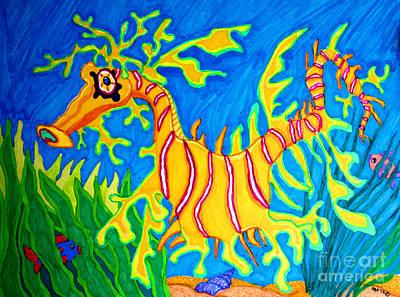 Leafy Sea Dragon Drawing - Leafy Sea Dragon by Nick Gustafson