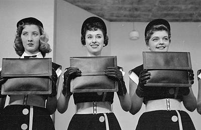 Leather Purses Photograph - Leather Girls by Bert Hardy