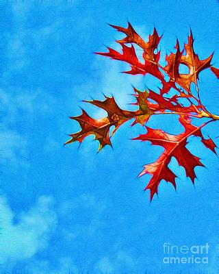 Leaves Against The Sky Print by Judi Bagwell