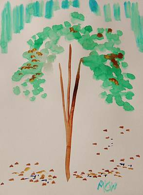 Changing Leaves Drawing - Leaves In Change by Mary Carol Williams