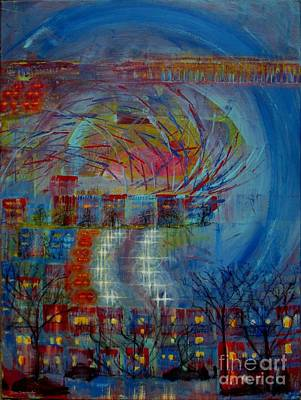 Montreal Neighborhoods Mixed Media - Leaving Home Commuting To Work And Returning Home by Contemporary Luxury Fine Art