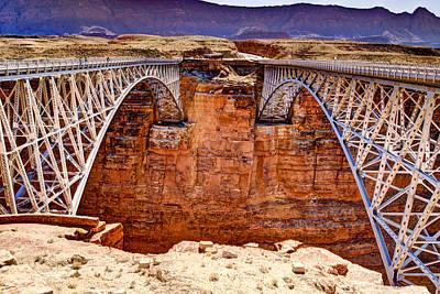 Lees Ferry Bridges Print by Jon Berghoff