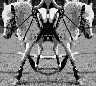 Horse Show Digital Art - Left Or Right by Betsy Knapp