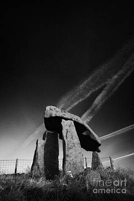 Megalith Photograph - Legananny Dolmen Portal Tomb Ancient Historic Monument County Down Ireland by Joe Fox