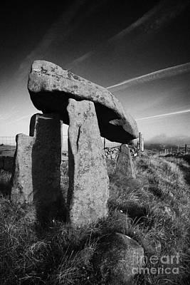 Megalith Photograph - Legananny Dolmen Portal Tomb Ancient Historic Monument County Down Irish Ireland by Joe Fox