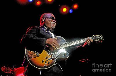 Blue Photograph - Legendary Guitarist by Gib Martinez